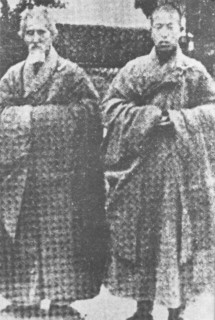 With the Elder Master Hsu Yun at Nanhua Monastery in China, 1948